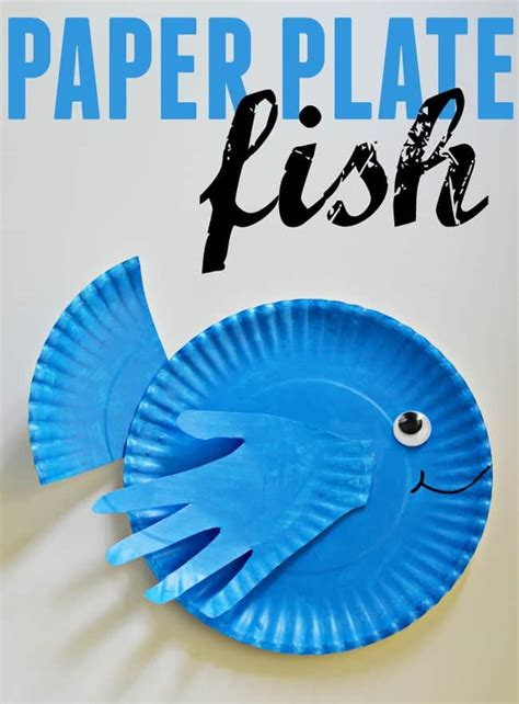 How To Make A Paper Plate Fish - paper plate fish a print craft
