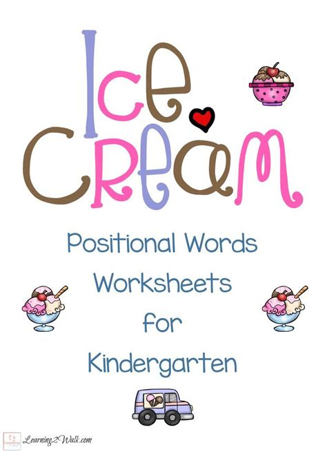printable ice cream word games 81 best images about preschool prepositions positional