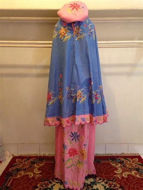 Mukena Kombinasi Batik mukena batik motif encim batik cap m1 14 batik