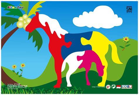 Mainan Edukatif Puzzle Kayu Gambar Zebra puzzle gambar kuda mainan kayu