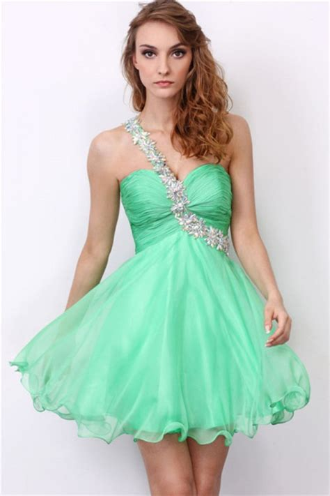 8 Prom Dresses by Fashion One Shoulder Sweetheart Mint Green