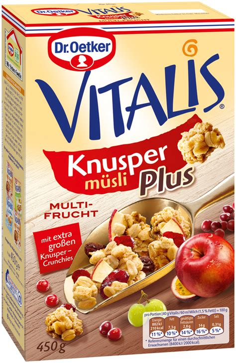 Topfer My Muesli Cereal vitalis knusper muesli plus multi fruit