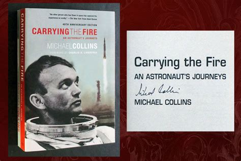 carrying the fire an carrying the fire signed by collins jsa certified by charles a foreword michael lindbergh