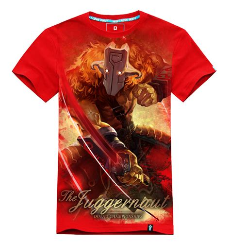 Dota 34 T Shirt dota 2 juggernaut tshirts for mens cool wishining