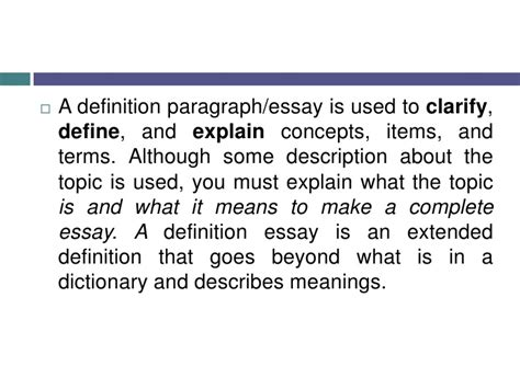 definition pattern paragraph definition