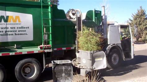 wm waste management christmas tree fail youtube