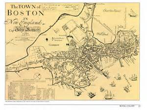Old Map Of Boston by Ahi United States 187 Inventing The Future City