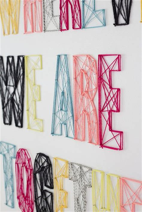 Diy String Wall - diy nails line rope letters wall lieze