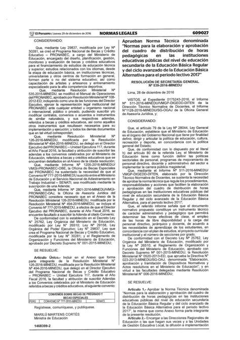 norma tecnica 2016 inmunizaciones rsg 539 2016 minedu norma tecnica cuadro horas 2017