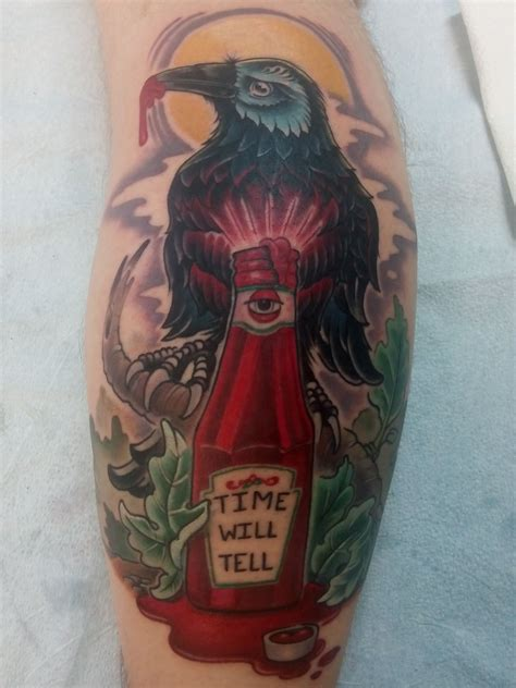 tattoo in quebec city crow ketchup by nicolas thomassin at d markation in