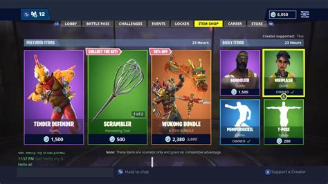 fortnite item shop today tender defender out now fortnite item shop today