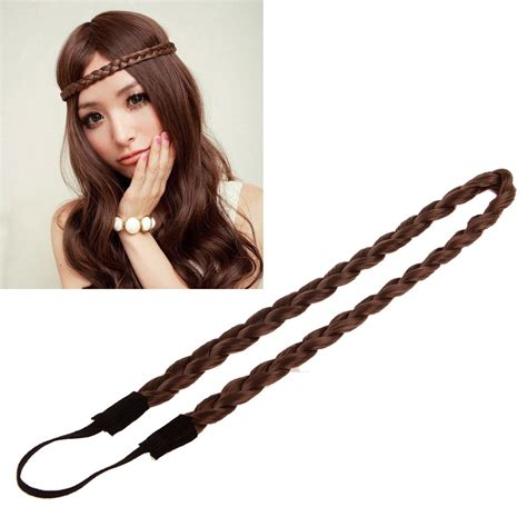 fashion icon plaited hair hot fashion girl braided plait plaited wig hair band