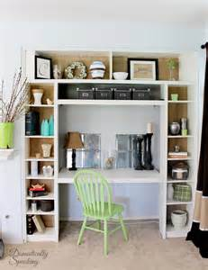 Built In Bookshelves With Desk Remodelaholic Ikea Bookcase To Built In Desk Nook Hack