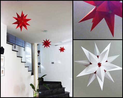 stelle da appendere al soffitto origami stelle per natale cose di casa