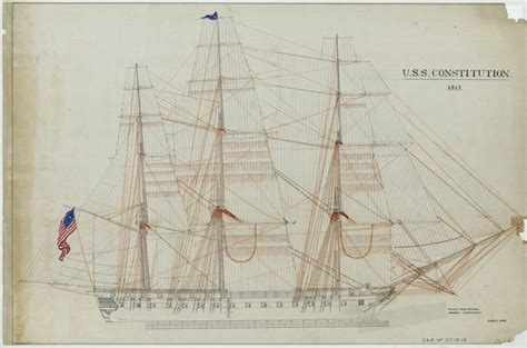 Design Home Book Boston 1817 sail drawing of the uss constitution aotus