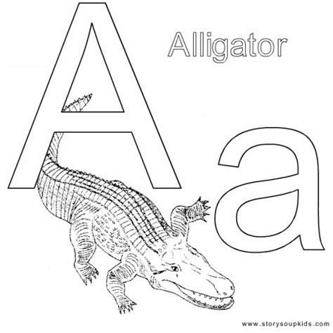 Coloring Page Letter Aa | 6 best images of alphabet letter aa printable coloring