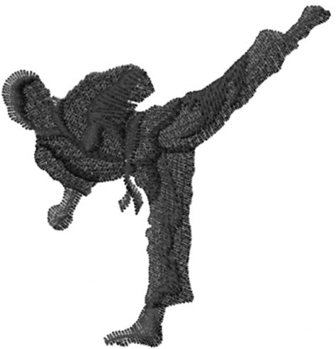 embroidery design karate karate high kick embroidery designs machine embroidery