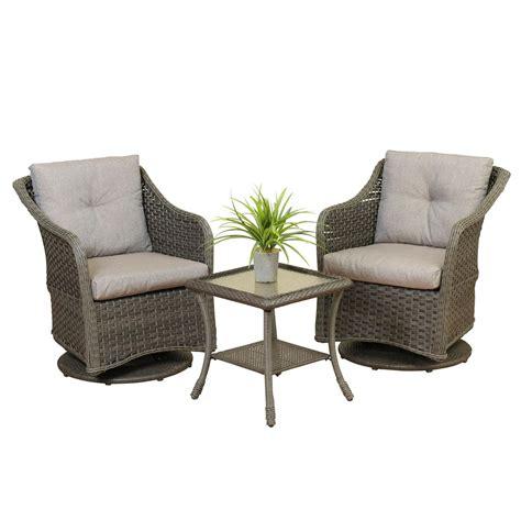 swivel wicker patio furniture wicker swivel glider set the gerson company stein s