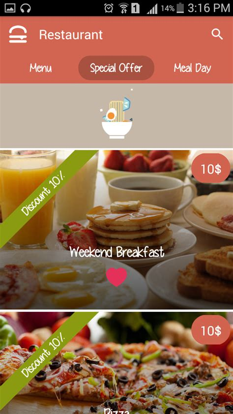 cafe android android restaurant template by odaite codecanyon
