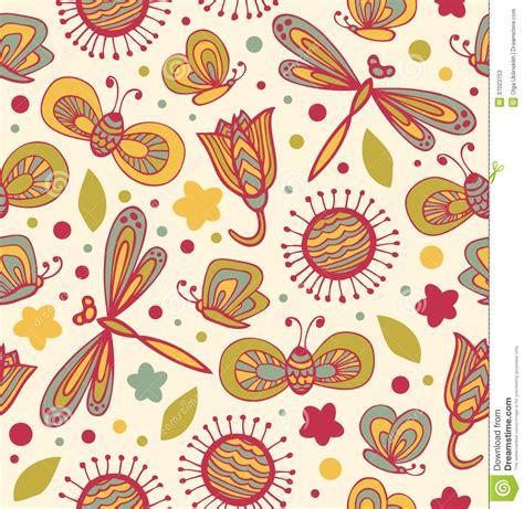 fiori con la u modello floreale sveglio con i fiori le libellule e le