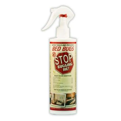 bed bugs spray home depot stop bugging me 12 oz all natural bed bug spray