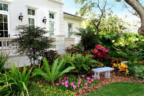 Tropical Front Garden Ideas Siesta Key Front Tropical Landscape Ta By
