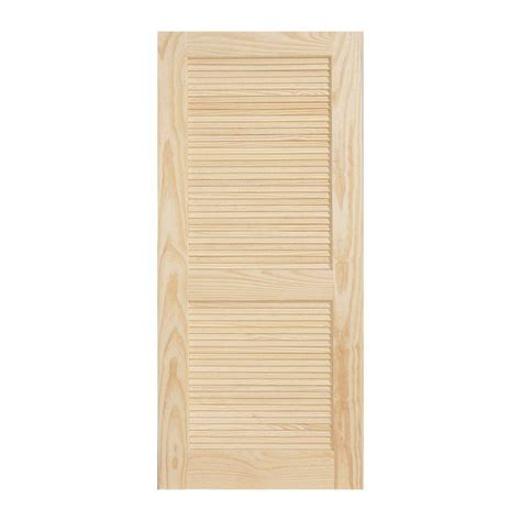 interior louvered doors home depot jeld wen 30 in x 80 in woodgrain louvered 2 panel