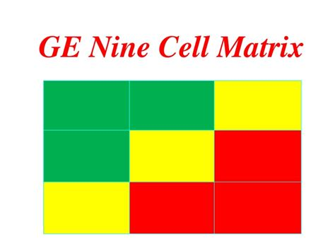9 cell matrix template ge9 ppt