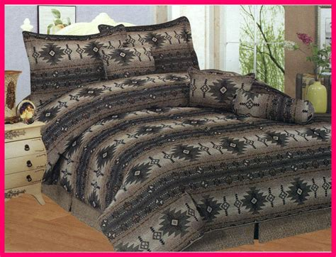 Earth Tone Bedding Sets New 7 Pcs Southwestern Azteca Indian Design Comforter Set Earth Tone Ebay