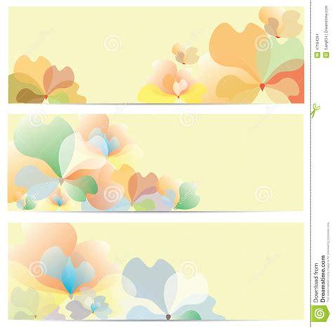 Flower Banner Background Set Stock Vector Illustration Of Pattern Illustration 47184264 Flower Banner Template