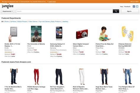 amazon online india amazon launches as junglee com in india but not as an