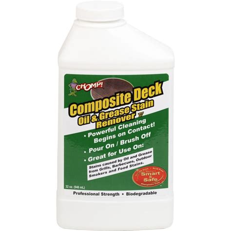 chomp  oz composite deck oil  grease stain remover