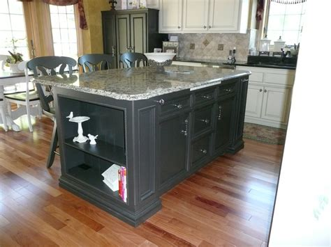 Custom Kitchen Islands That Look Like Furniture World Kitchen After Custom Center Island Painted In A