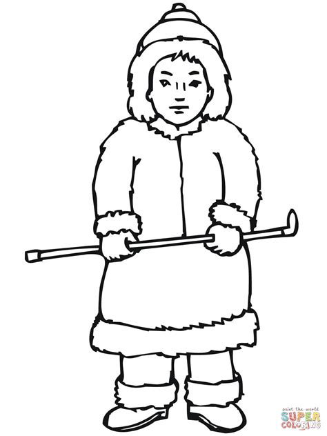 Inuit Boy Coloring Page Free Printable Coloring Pages Eskimo Coloring Pages