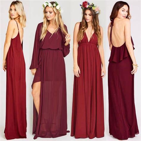 wine colored bridesmaids dresses best 25 wine bridesmaid dresses ideas on wine
