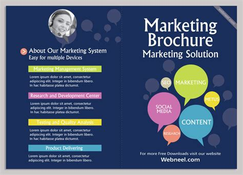 14 marketing brochure design template freedownload