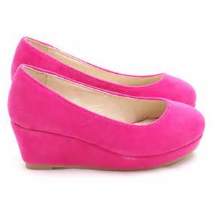 pink velvet platform heel wedge dress shoes toddler