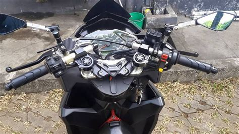 Visor Honda Vario 125 150 modifikasi vario 150 pakai visor ala pcx dual shock stang jepit plus spakbor r15 warungasep