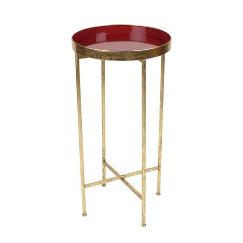 metal round accent table kate and laurel deliah round metal accent table end table
