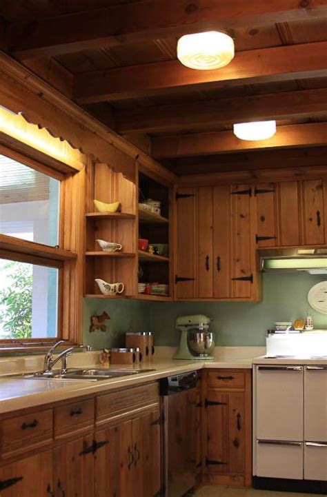 painting inside kitchen cabinets ideas knotty pine on with the 10 most endangered features of midcentury homes 2012