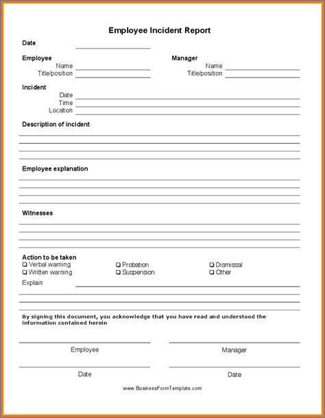 verbal warning template verbal warning form verbal warning template employee