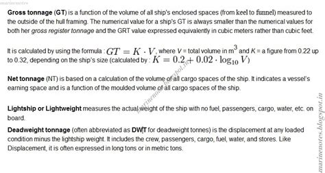 ship displacement formula what is gross tonnage net tonnage light ship or light