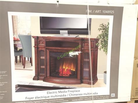 fireplaces electric costco well universal 72 electric fireplace media mantle