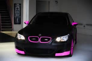 smile chen on quot bmw m5 matte black and pink