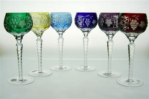 Handmade Glassware - wine glass handmade of cased colored lead