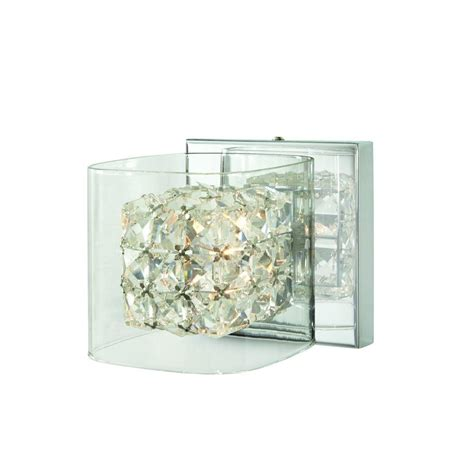 home decorators collection lighting home decorators collection crystal cube 1 light polished