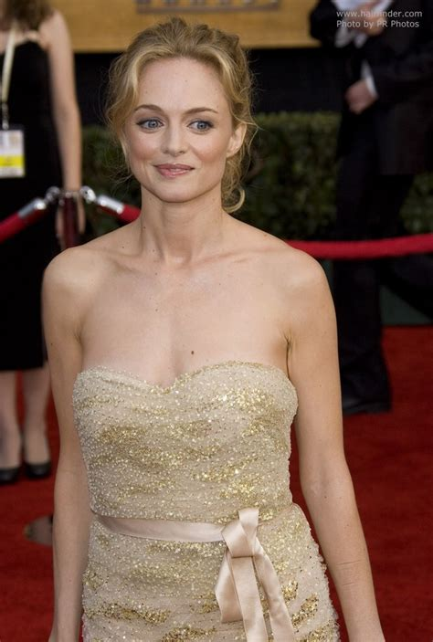 heather graham wearing hair styled   cascading curls
