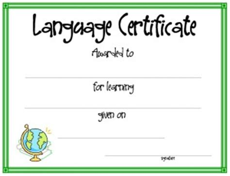 template language certificate template for free printable certificate