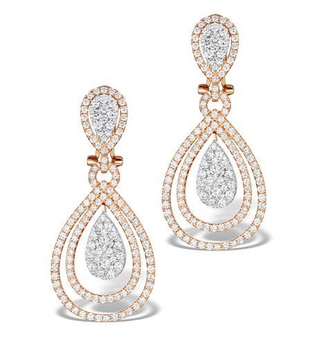 18k Gold Non Matching Drop Earring halo drop earrings 6 66ct in 18k gold p3491