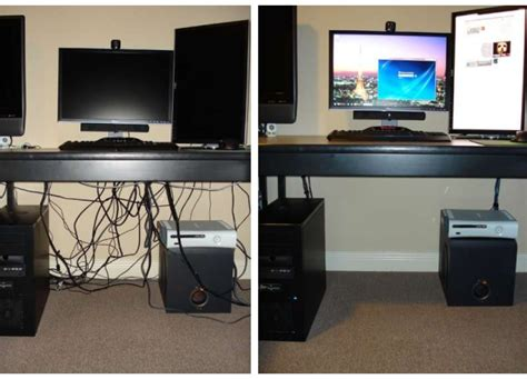 a minimalist desk that hides all your cords design milk are your pc cables in a mess click to find out how to